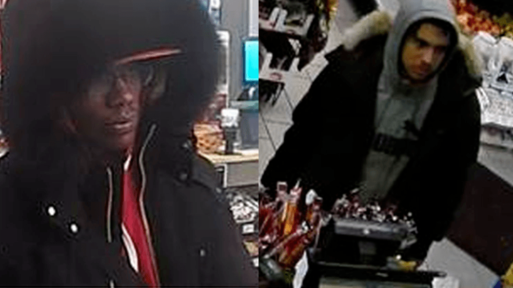Toronto police searching for two men following violent robberies