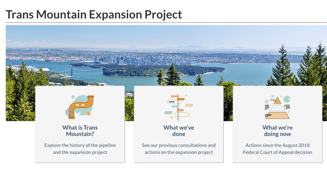 Stalled Trans Mountain Pipeline project just got its own website