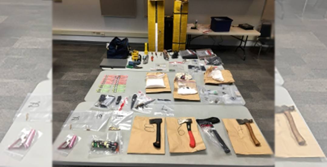 Police seize stash of weapons and narcotics from Delta highrise