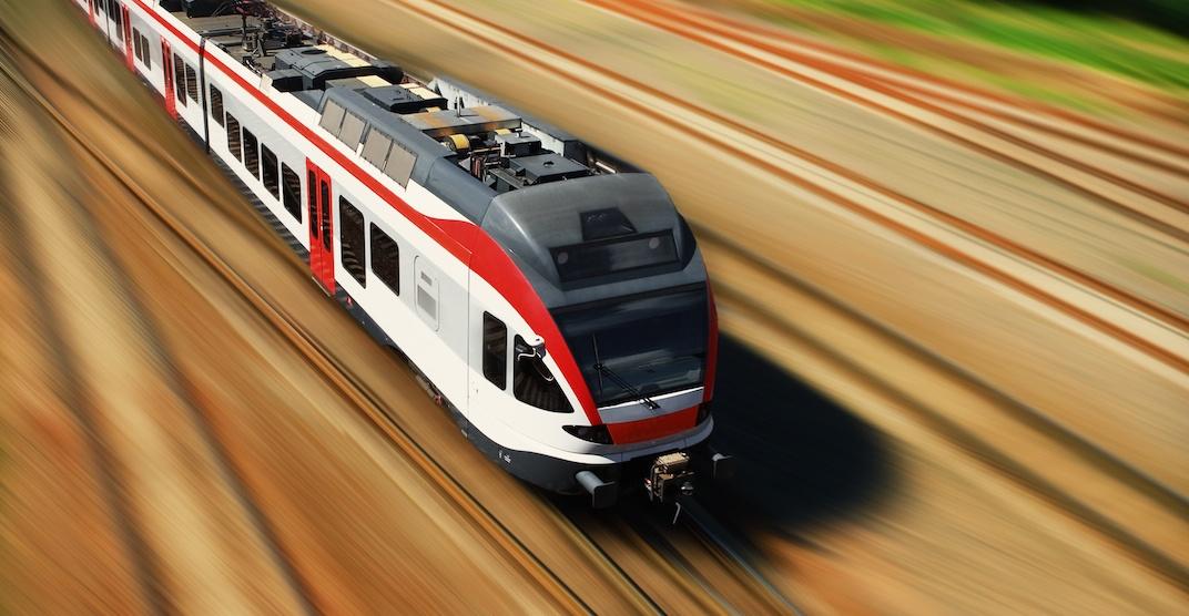 Public transit commuter rail railway