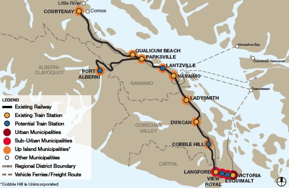 E&N Corridor Victoria Vancouver Island