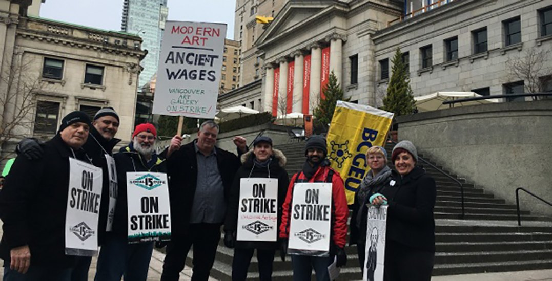 Worker strike at Vancouver Art Gallery ending after agreement reached