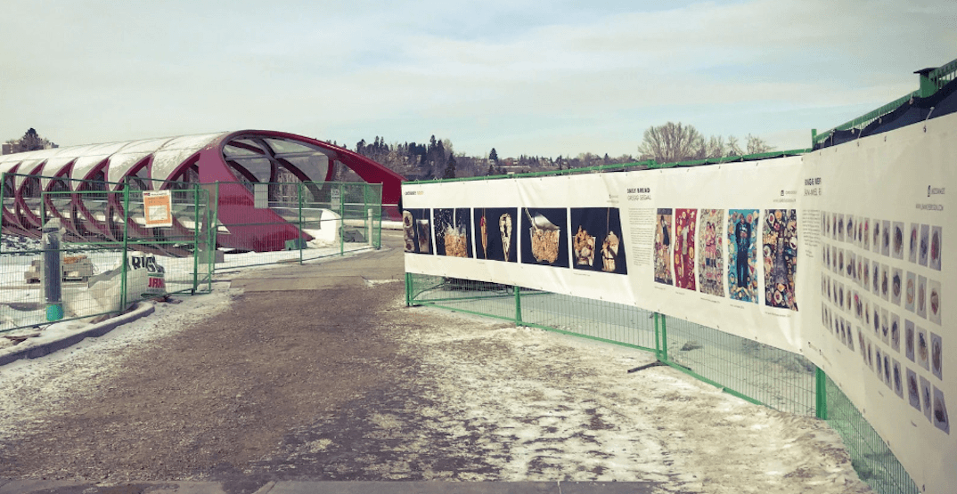 A 750-ft photography exhibit has been erected in Calgary for February