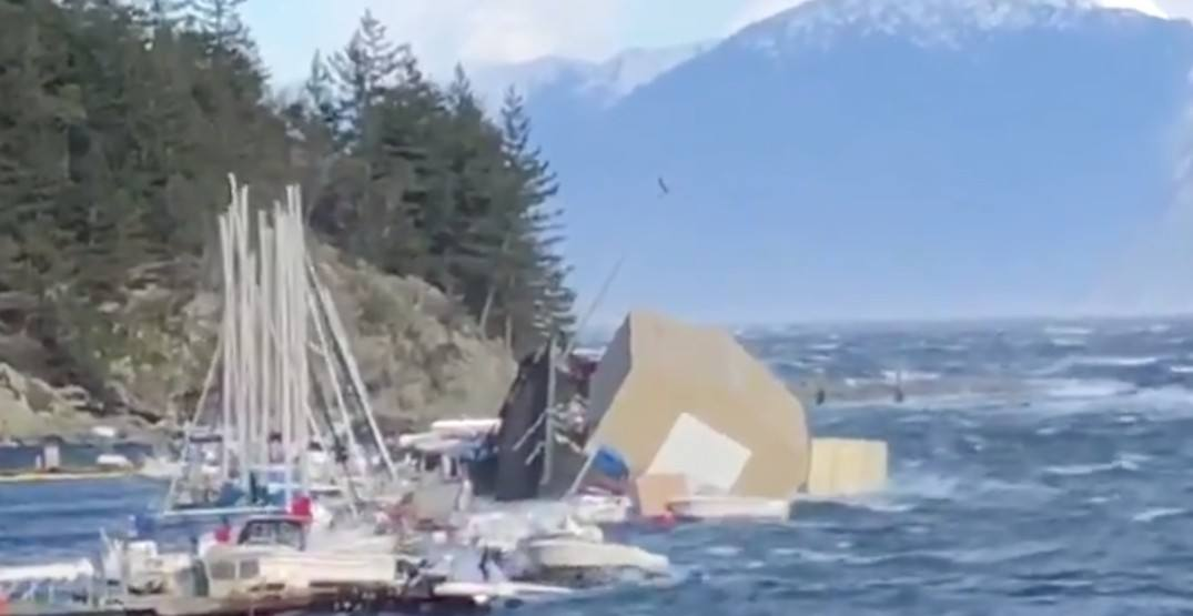 High winds damage marina at Horseshoe Bay, BC Ferries delayed (VIDEO)