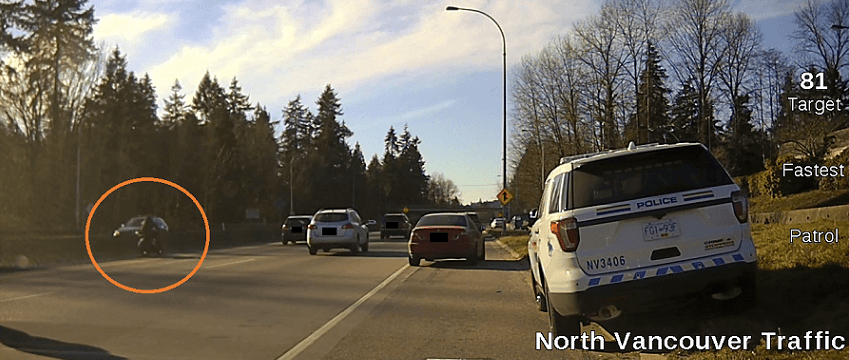 Mountie struck by motorcycle in hit-and-run on Hwy. 1