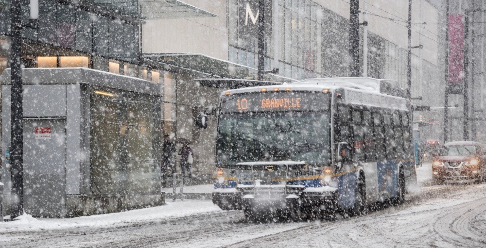 Snowfall warning calls for up to 10 cm of snow in Metro Vancouver