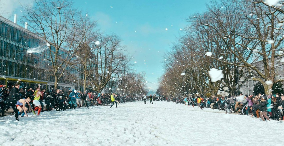 UBC's campus-wide snowball fight postponed over... snow