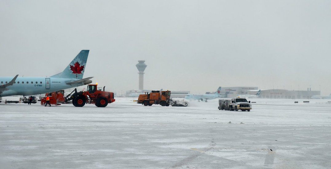 Major snowfall causing delays and cancellations at Toronto Pearson Airport