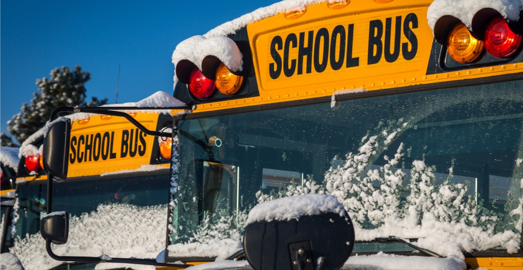 A student is in life-threatening condition after school bus accident