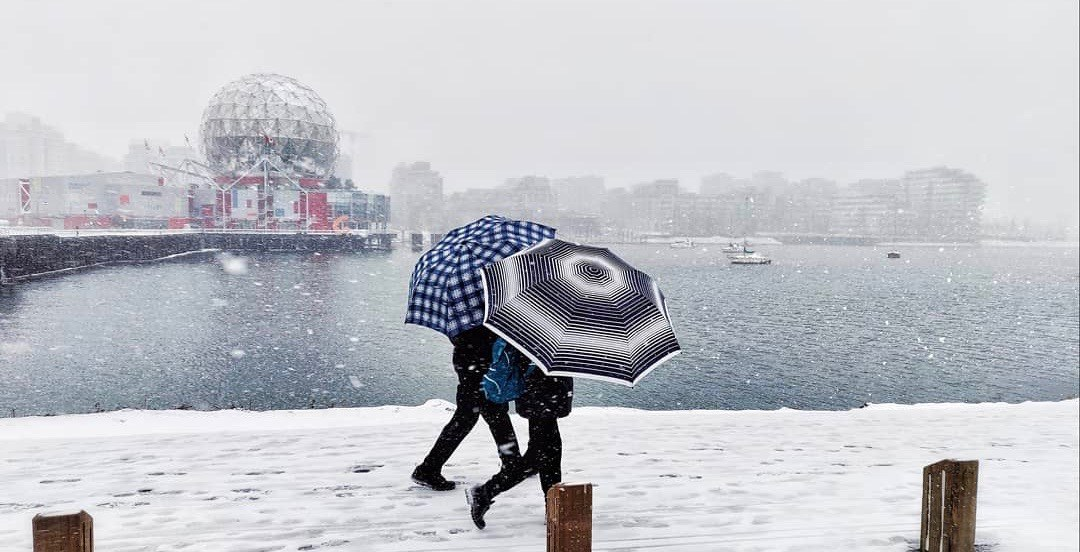 Snowfall warning issued for parts of Metro Vancouver