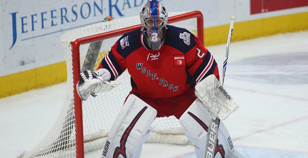 Canucks trade draft pick to Rangers for goaltender Marek Mazanec