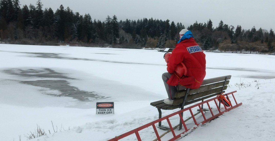 Vancouver dispatches lifeguards to oversee safety of frozen ponds