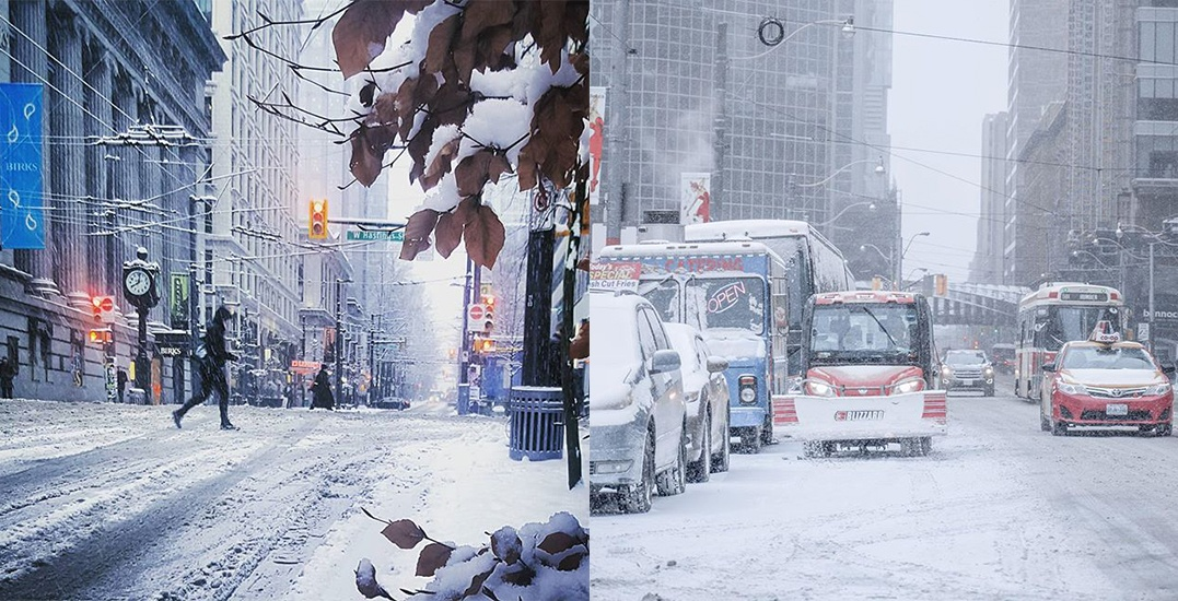 Vancouver and Toronto had the exact same amount of snowfall yesterday