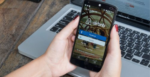 Airbnb short-term rentals. (Shutterstock