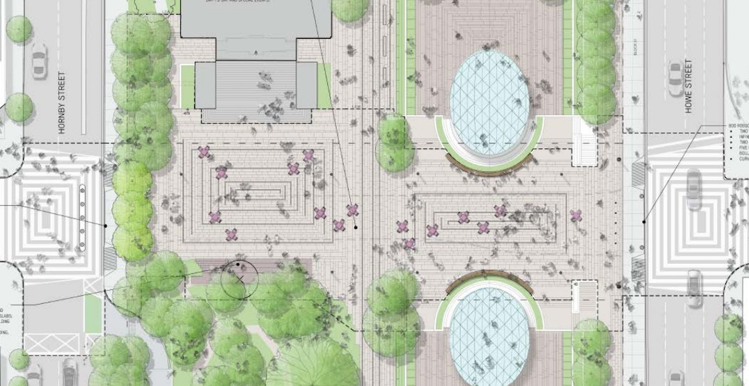 New $5.4-million permanent design for Robson Plaza to be built this year