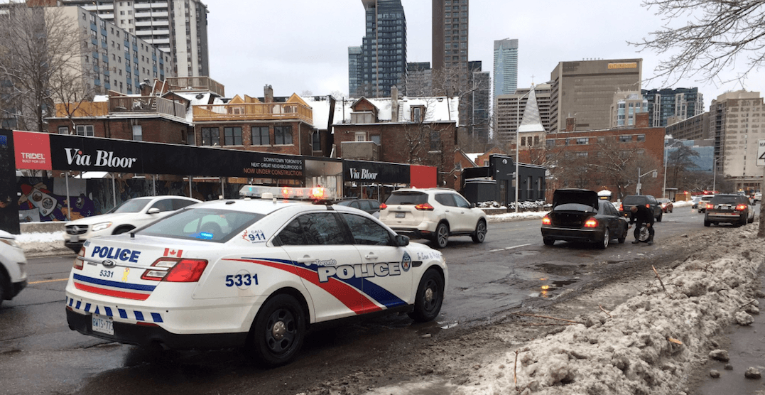 Massive pothole on Bloor Street East giving drivers flat tires