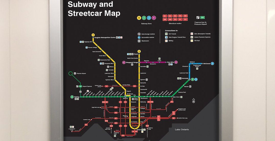The TTC just introduced upgraded subway and streetcar maps