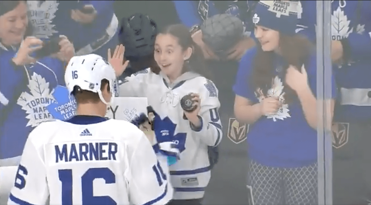 Mitch Marner makes young fan's Valentine's Day extra special (VIDEO)