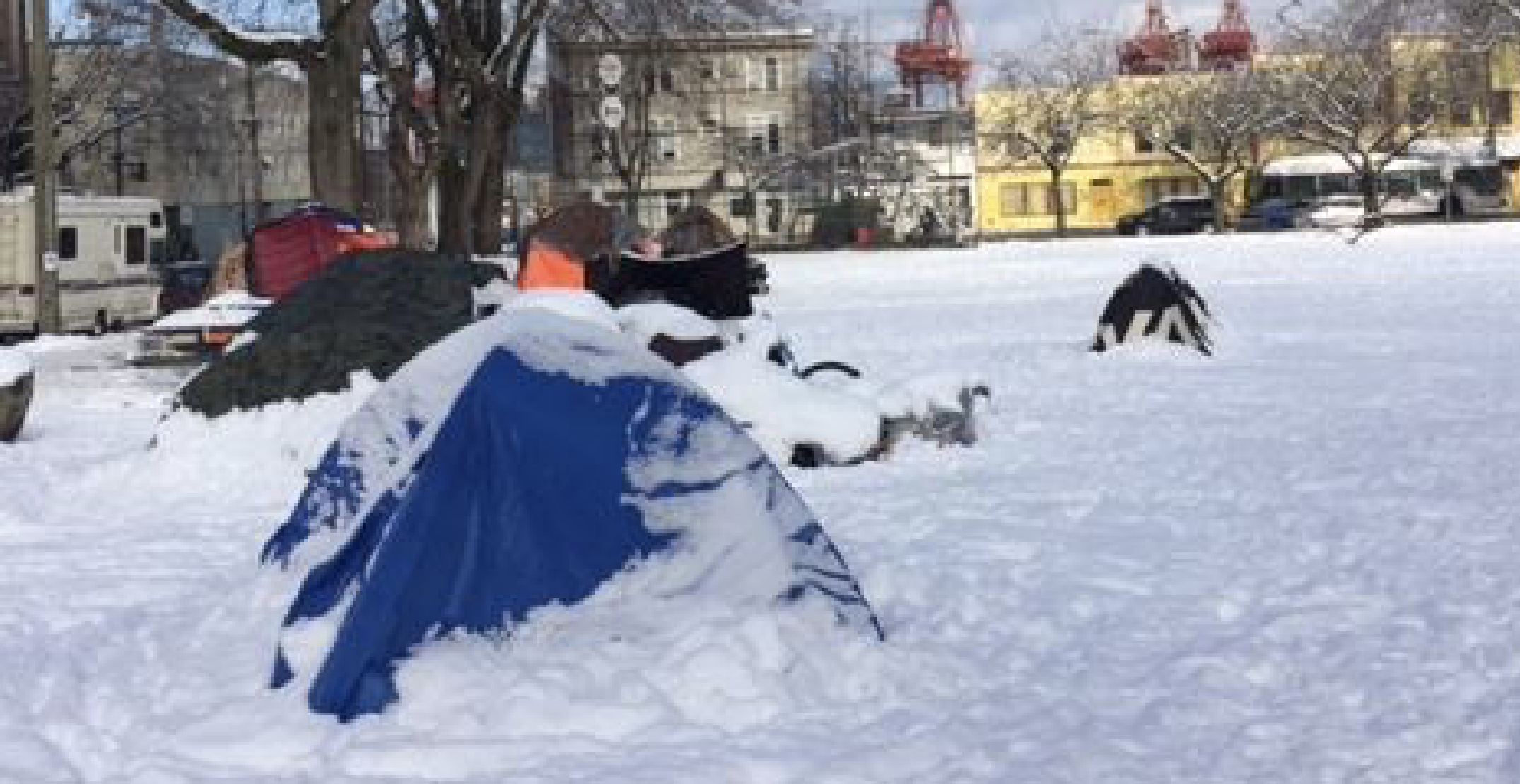 Nearly 100 homeless campers facing freezing conditions at DTES park