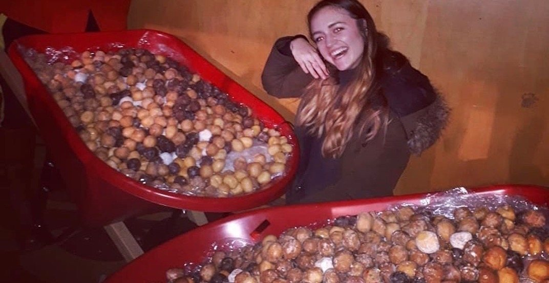 Seth Rogen brought out wheelbarrows of Timbits at The Vogue February 15