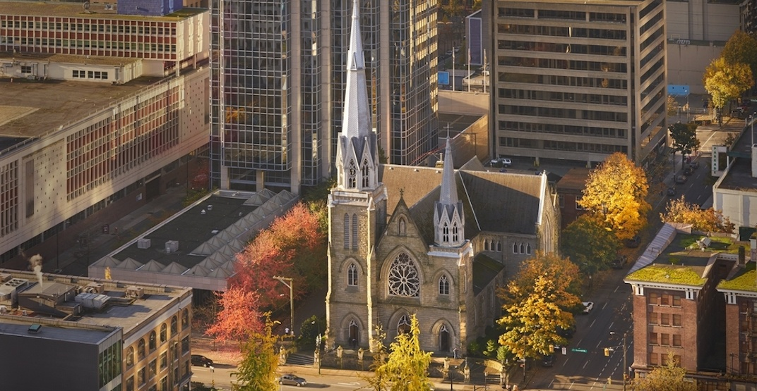 18-storey office tower could be added to Holy Rosary Cathedral in downtown Vancouver