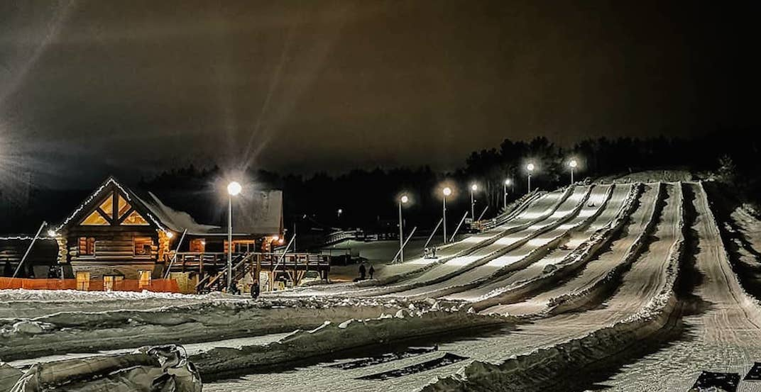 You can go moonlight snow tubing near Toronto this winter