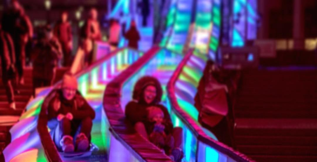 You can ride down these giant light-up slides for FREE in Montreal on February 21
