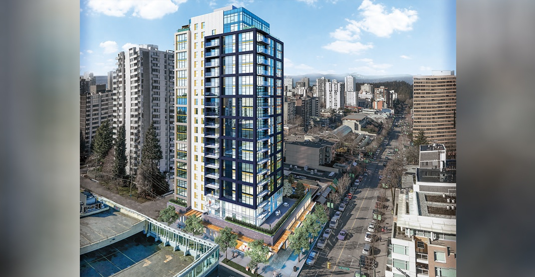 Construction begins on 21-storey rental tower on Robson Street in the West End