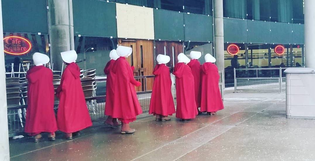 The Handmaid's Tale spotted filming at Toronto City Hall this morning (PHOTOS)