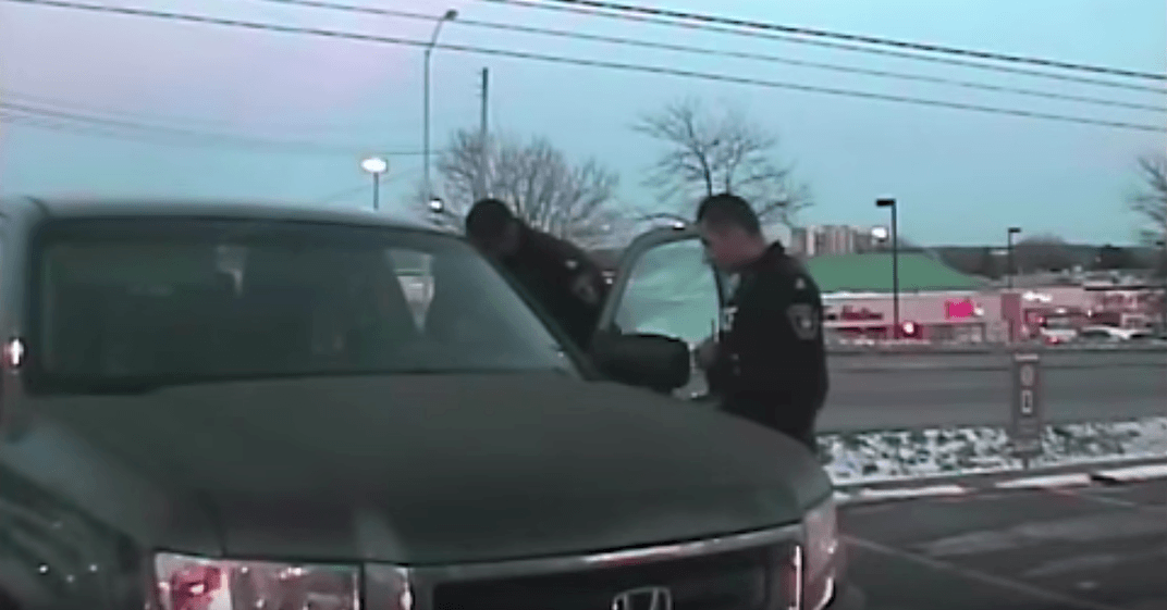 Dashcam captures driver in stolen truck ramming into police cruiser (VIDEO)