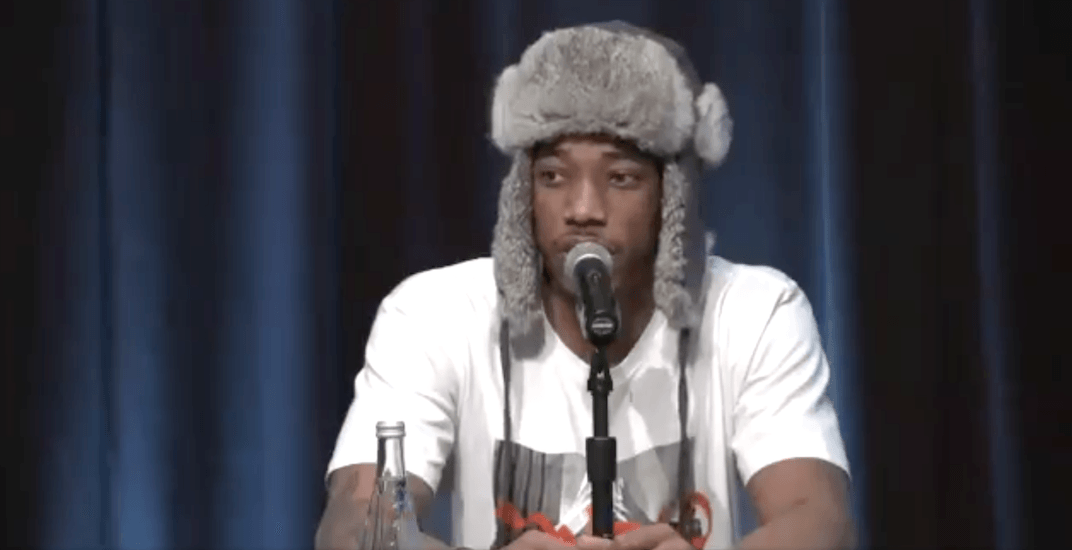 DeRozan returns to Toronto with no regrets and a cool hat