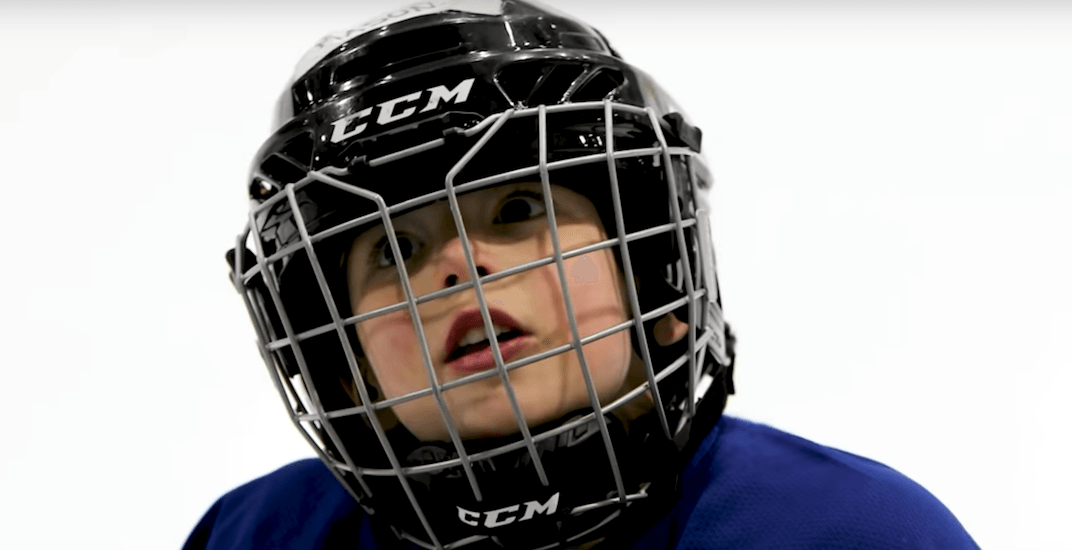 Mic'd up 4-year-old learns to play hockey in hilarious viral video