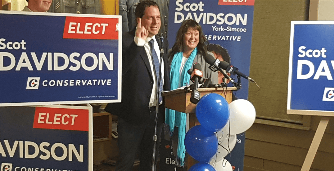 Conservative candidate Scot Davidson wins by-election in York-Simcoe