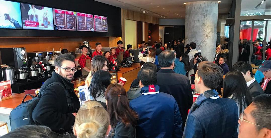 The line is RIDICULOUS for China's first-ever Tim Hortons (VIDEO)