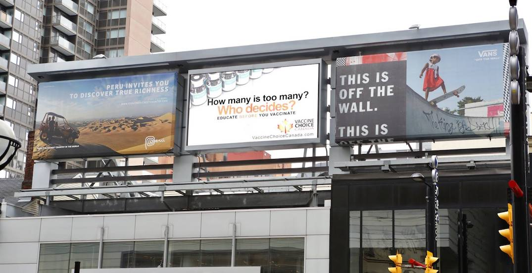 'Harmful' billboards from anti-vaccine group coming down after public outcry