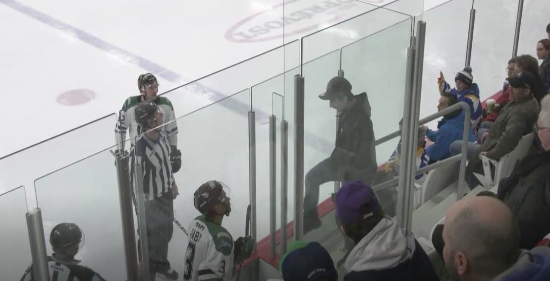 Racist hockey fan taunts black player in a Quebec hockey league
