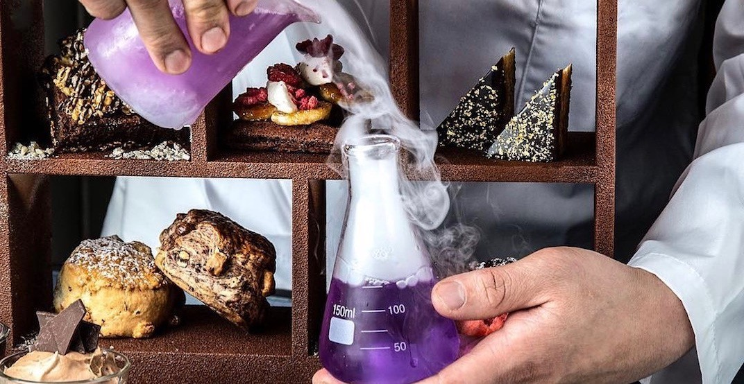 A new boozy science-themed afternoon tea launches in Vancouver February 28