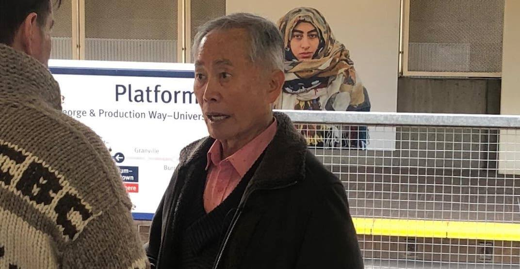 The legendary George Takei spotted riding Vancouver's SkyTrain