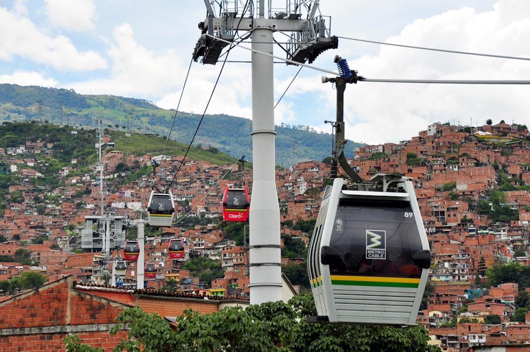 Metrocable Medellin Colombia gondola