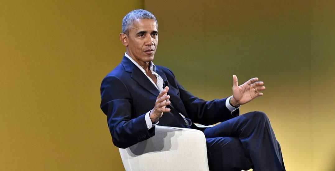 Obama rides unicorn into Calgary blasting rainbows of change and hope