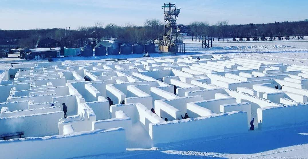 Canada is home to world's largest snow maze (PHOTOS)