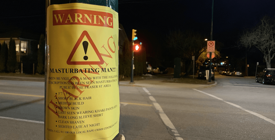 Posters warn of 'masturbating man' on busy stretch of Fraser Street