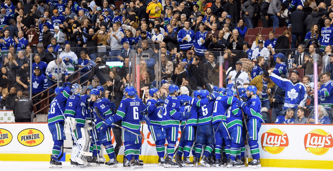 Canucks might not make the playoffs but at least they shut up those Leafs fans at Rogers Arena last night