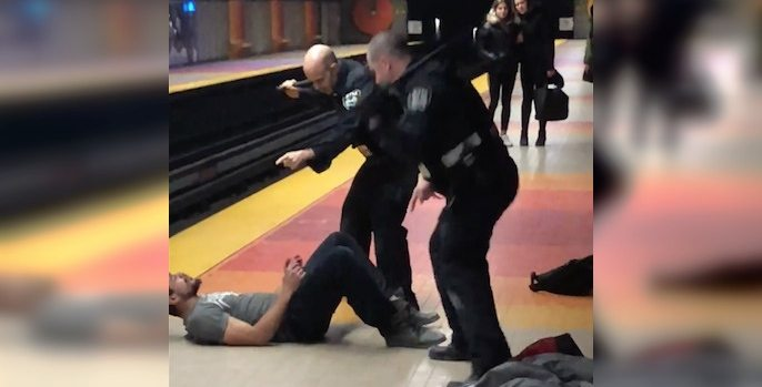 Police have intense altercation with man in Montreal metro station (VIDEO)