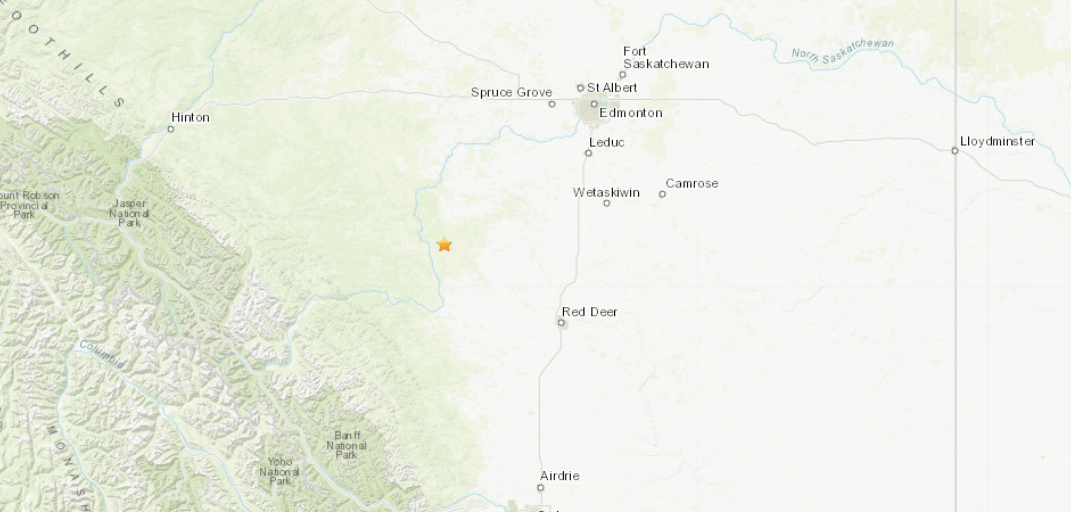 Magnitude 4.3 earthquake strikes near Red Deer, Alberta