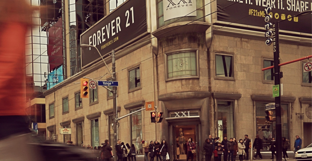 Forever 21 at Yonge and Dundas is closing