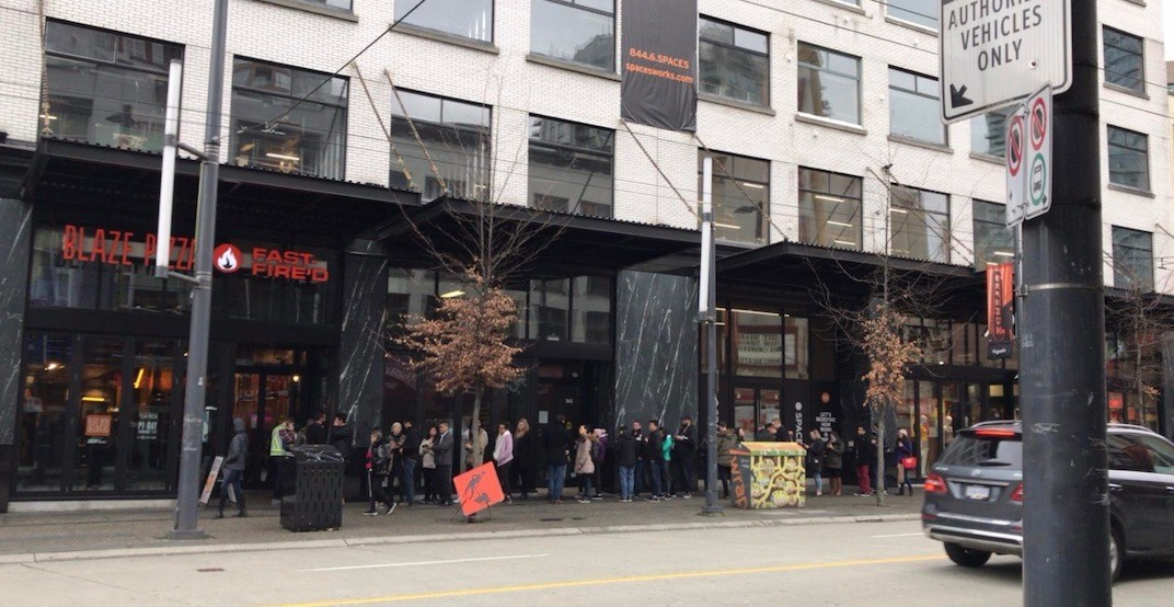 Blaze Pizza draws huge line on Granville Strip (PHOTO)