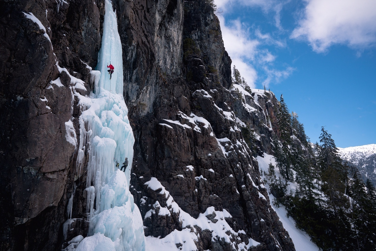 Alberta Adventurer climbs Canada's tallest frozen waterfall in BC's backyard