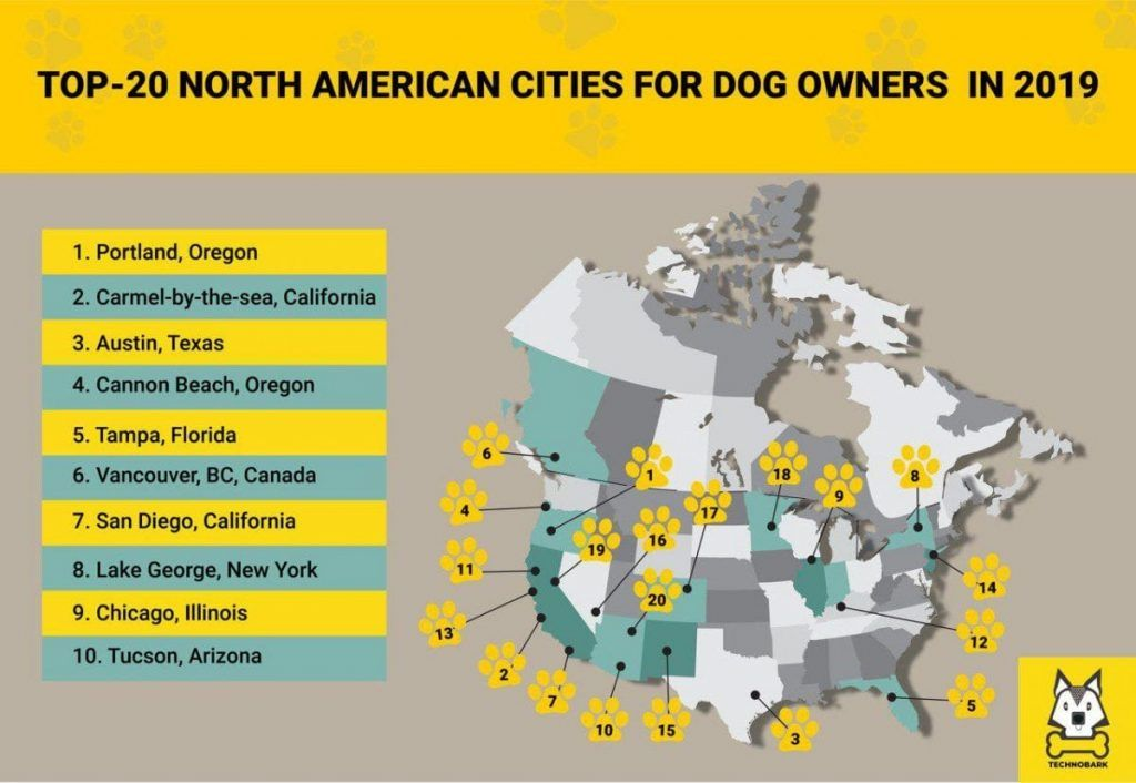 dog friendly cities north america
