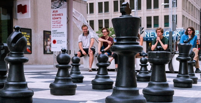 These giant FREE playable chess pieces are coming back to Montreal on May 2